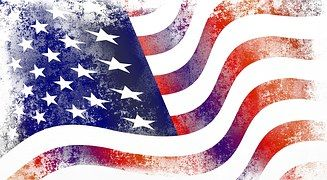 미국, 플래그, 아메리카, 미국의 국기, 성조기, 그런 지, 질감