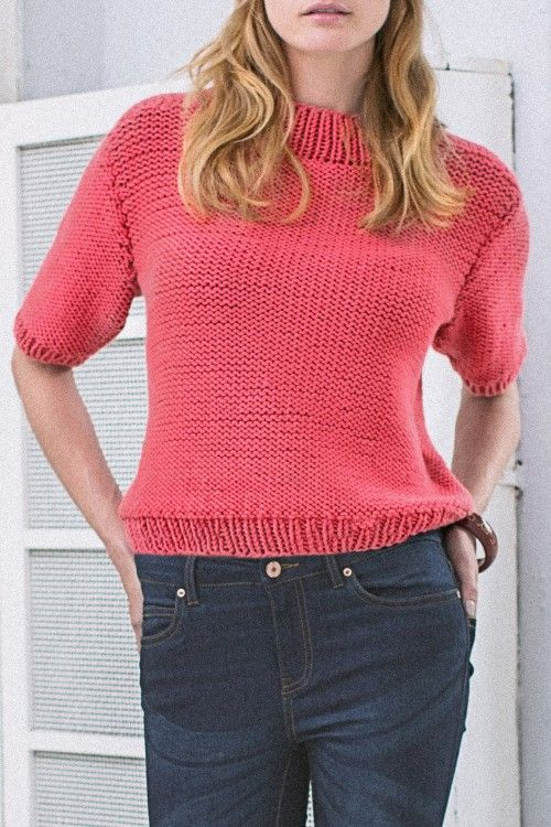 Kostenlose Anleitung: Kurzarm-Pullover - Initiative Handarbeit