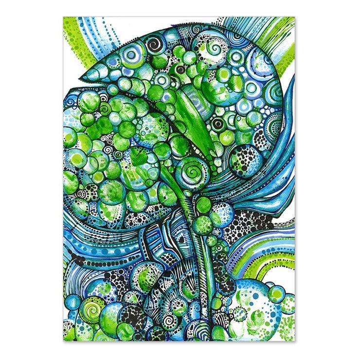 Pąk zielony | Grafika - druk artystyczny