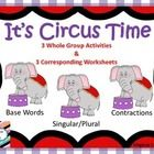 This product includes 3 whole group activities and 3 corresponding worksheets for these reading skills:  base words, singular and plural words, and...