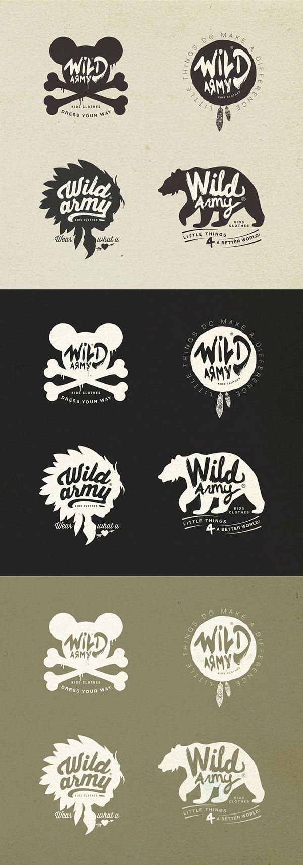 Wild Army, Kids Revel Clothes on Behance | Retro & Vintage Badges | Pinterest | Army, Behance ...