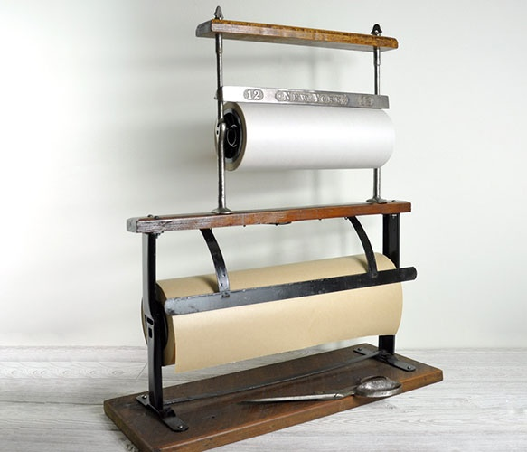 Industrial Paper Cutter - I'd love one of these in my kitchen for parchment paper and one in my office for kraft paper.
