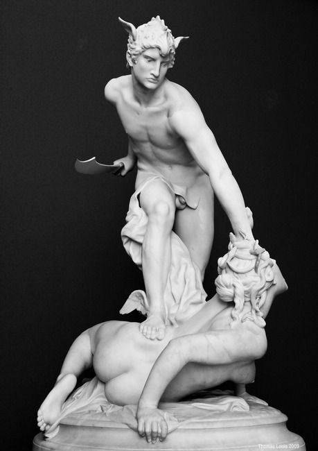 Perseus Slaying Medusa by Laurent-Honoré Marqueste, France, 1876.