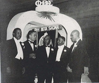 Phi Beta Sigma members in 1948; Founder A. Langston Taylor is on the far right