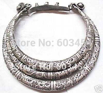 ==> [Free Shipping] Buy Best Free shipping Wholesale Cheap Excelente collar de plata 3row Tibet Silver Miao silver necklace/ Shipping Online with LOWEST Price | 32692904344