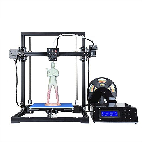 """ALUNAR 3D Printer I3 Aluminum DIY Quick Assembly Large FDM 3D Printing Machine Size 8.66″x 8.66″x 11.8″  Easy Wiring and Neat Looking: Wires are quite easy for wiring. The 3D printer is very tidy and neat.Easy Assembly Desktop 3D Pinter:This ALUNAR DIY 3D printer comes with few sets, easy to assemble it well in quite short time.High Resolution FDM 3D printer with Large Printing Size: Prints max size of 220X220X300 mm (8.66""""x 8.66"""" x 11.8""""). You will not be limited to small items an.."""