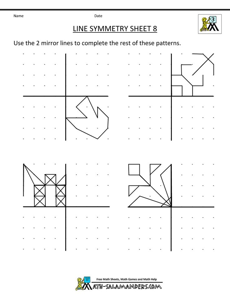 symmetry worksheets - math-salamander.com