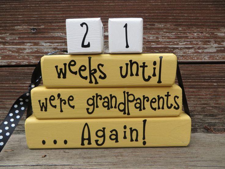 Baby Countdown Blocks Pregnancy New Baby Blocks
