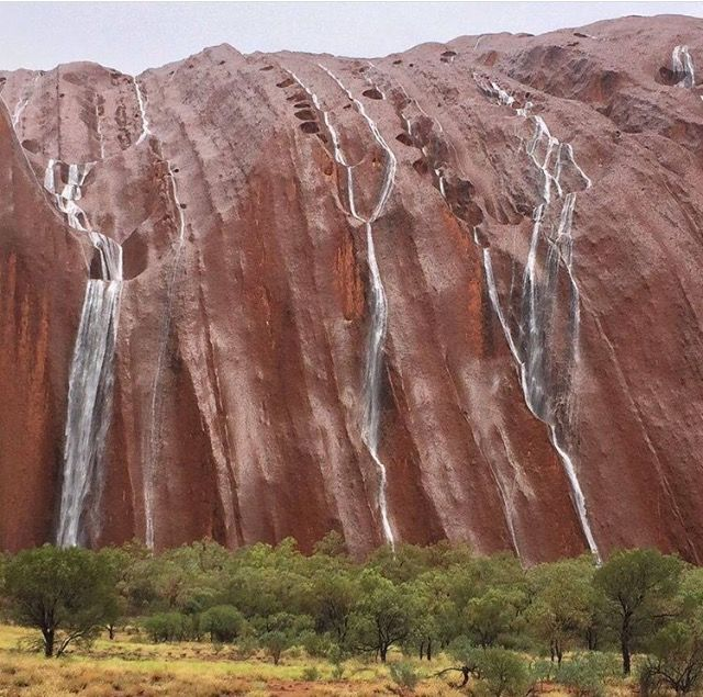 Waterfalls down Uluru, Northern Territory, Australia. A fantastic, wonderful experience.