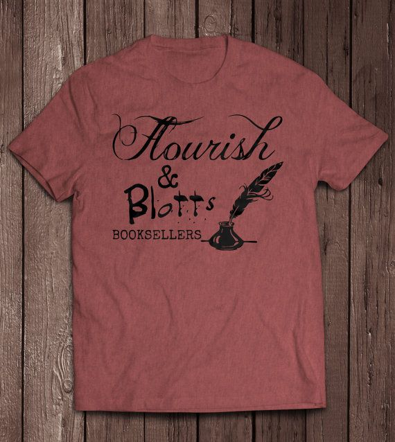 Flourish and Blotts, Harry Potter Inspired Tee, Wizarding World of Harry Potter, Fantastic Beasts and Where to Find Them