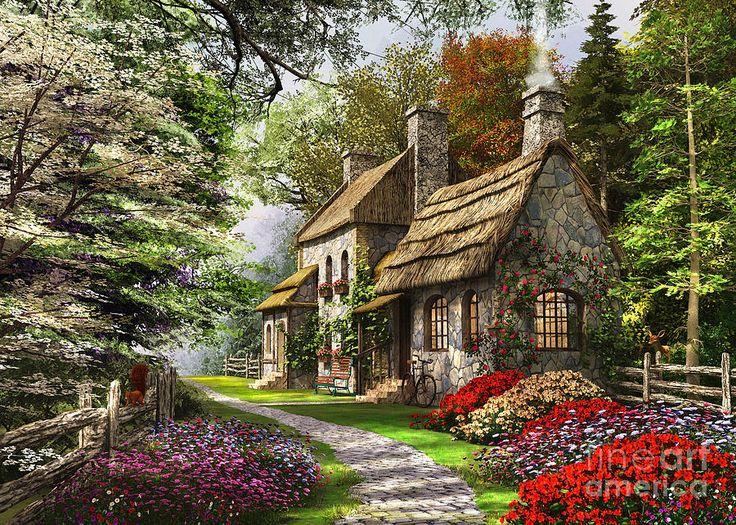 Carnation Cottage Canvas Print / Canvas Art by Dominic Davison