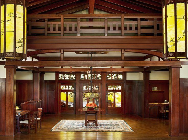 lodge at torrey pines foyer american craftsman style