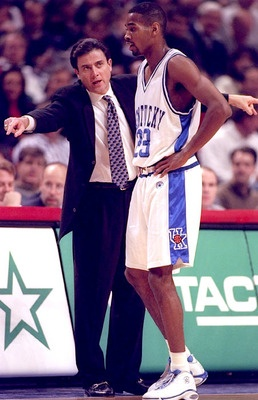 Rick Pitino, Head Coach (1989-1997). He had a 219–50 record with UK and won one NCAA Championship with the Wildcats (1996).