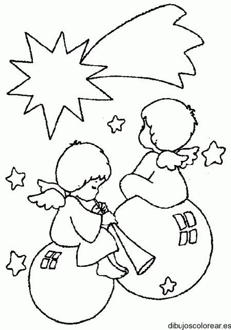Dibujo De Angeles Navidenos Dibujos Para Colorear Dibujo Navidad Para Colorear Dibujos De Navidad Faciles Bordado Navidad