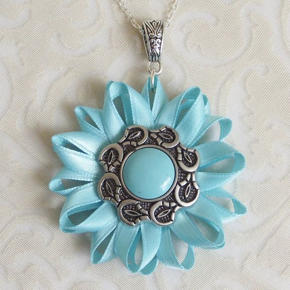 Turquoise Necklace Turquoise and Silver by PetalPerceptions, $12.00
