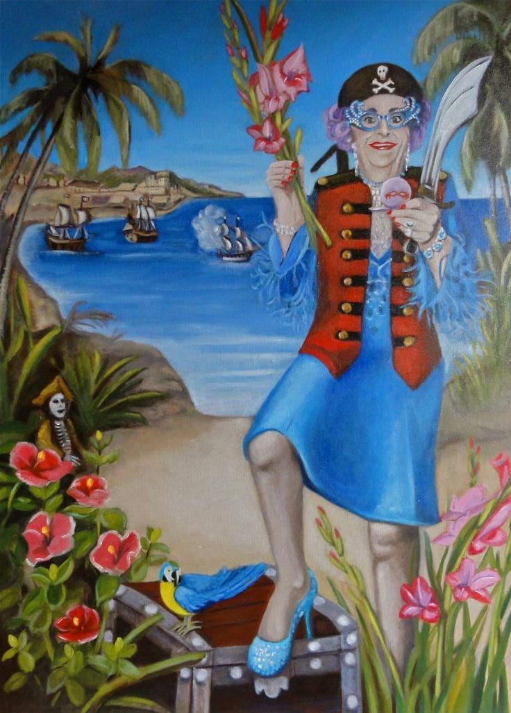 Nicola Semmens Pirate 'Edna' Oil on canvas