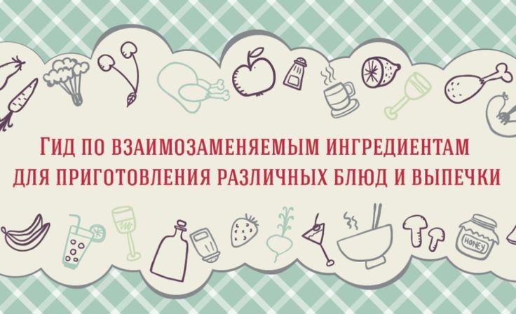 Собрались приготовить что-нибудь вкусненькое, но на кухне не оказалось необходимых ингредиентов? Не беда! Некоторым можно легко найти замену.