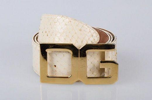 Ремень из питона от Dolce&Gabbana. Размер 80 см. Цвет Белый. В хорошем состоянии.
