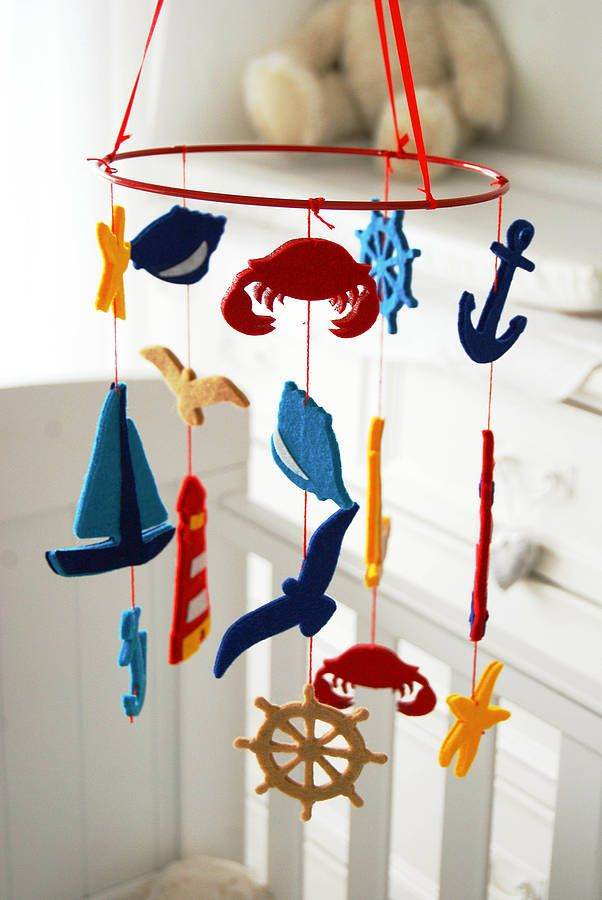 seaside felt baby cot mobile by lavish + delight | notonthehighstreet.com