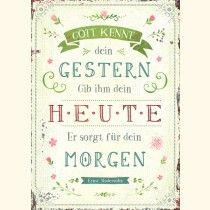 Postkarte - Gott kennt dein Gestern ...