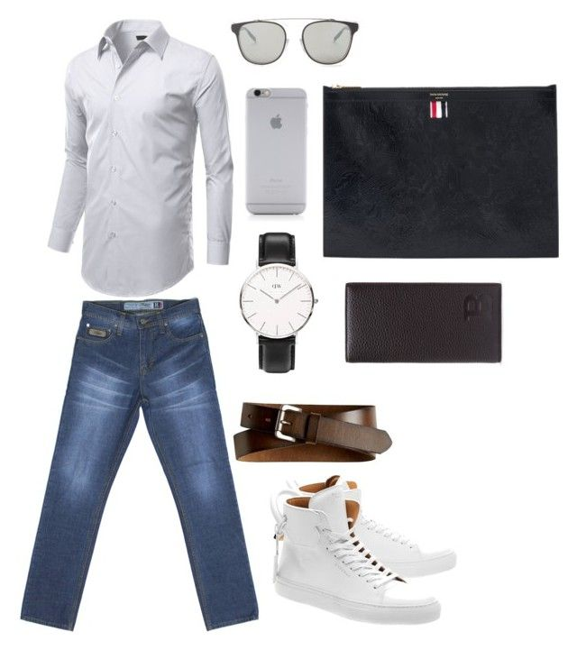 """Professional look with Turquoise R Series Denim"" by turquoisedenim on Polyvore featuring BUSCEMI, Daniel Wellington, Bally, Dior Homme, Banana Republic, Thom Browne, Native Union, mens, men and men's wear"