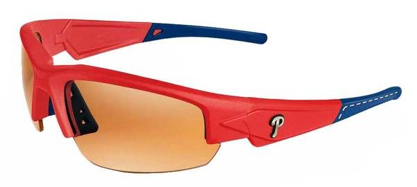 Maxx HD MLB Dynasty 2.0 Philadelphia Phillies Sunglasses Red w/Blue Max-Phillies