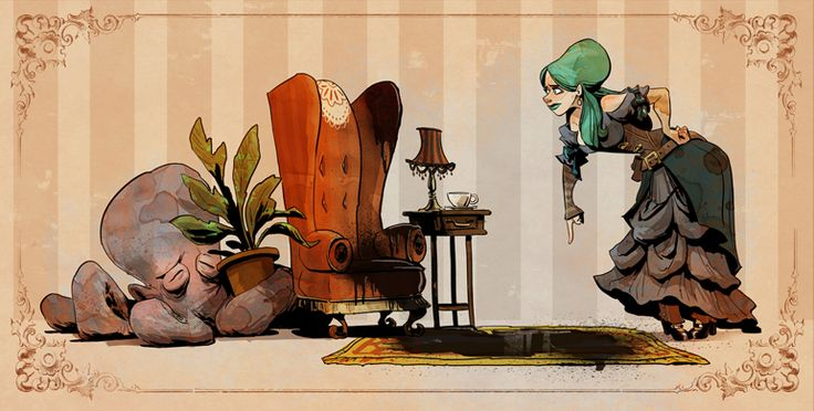 "We love Otto and Victoria. ""Housebrokensm"" by Brian Kesinger"