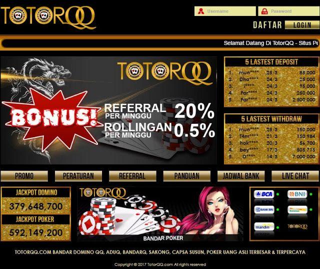 TotorQQ Situs Game Judi Online Poker Yang Paling Banyak Digemari | TotorQQ