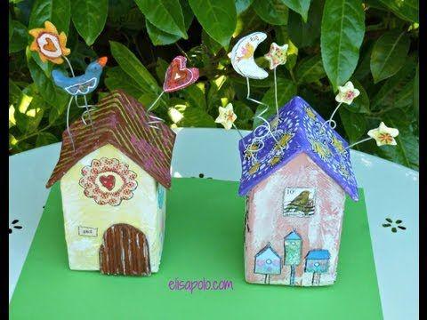 ▶ DIY, Birds House Crafts, Casita de Pájaros, Como hacer una Casita de Pájaros (elisapolo.com) - YouTube