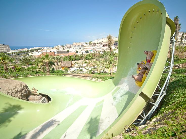 Kinnaree at Siam Park, Tenerife One of the newer slides at Siam Park, this is a four-person, 660-foot mega slide that's elevated 80 feet above the ground – perfect for adrenaline junkies!