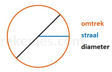 Het getal Pi en de omtrek en oppervlakte van een cirkel | Rekenles.com