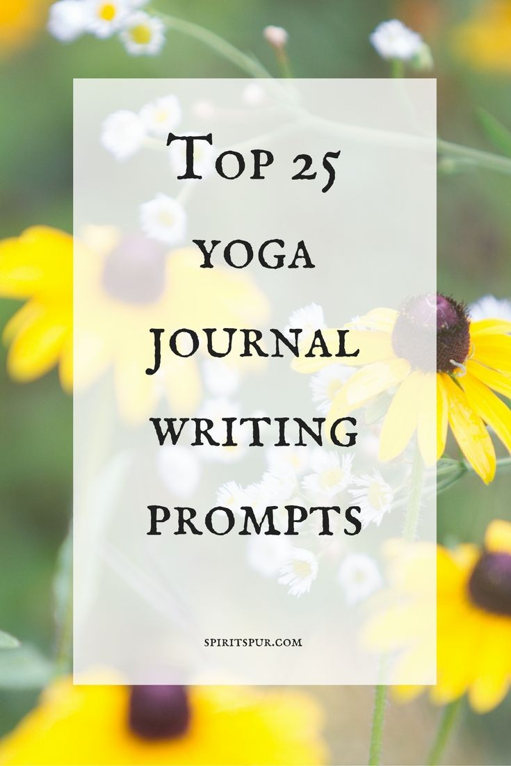 Top 25 yoga journal writing prompts exploring yoga theory from Liz Lear at spiritspur.com