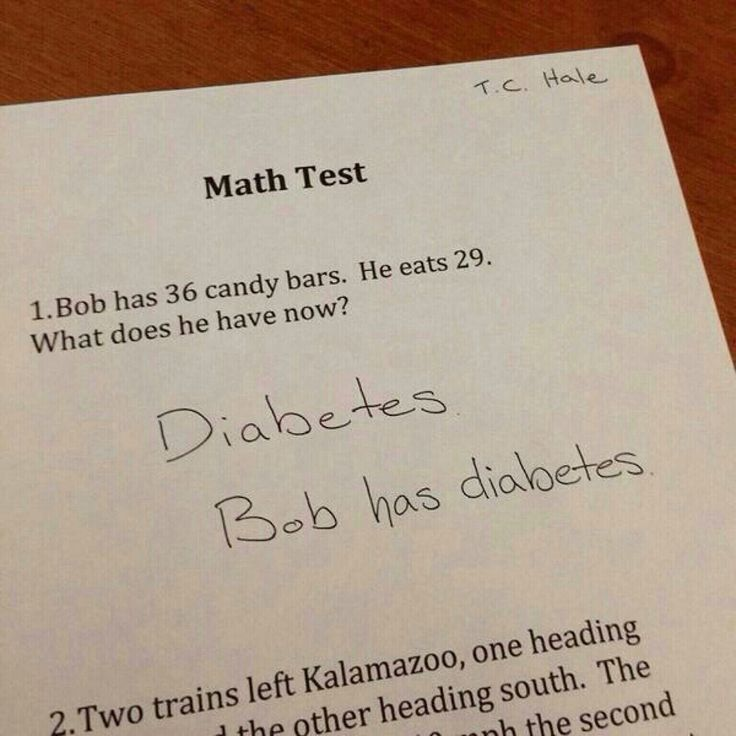 Best answer ever! Why was I not this clever with my answers in school.....