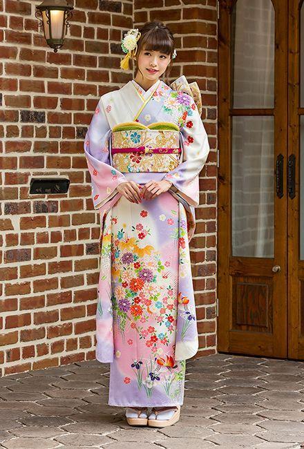 NO.80179 正絹 京友禅|成人式の振袖販売、振袖レンタルの京都きもの友禅