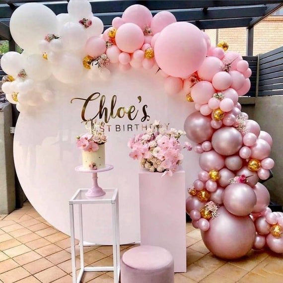 Round Wedding party stage backdrop arch stand decoration