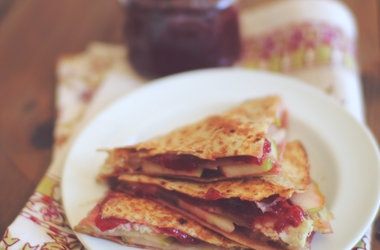 Turkey Apple  Swiss Quesadilla