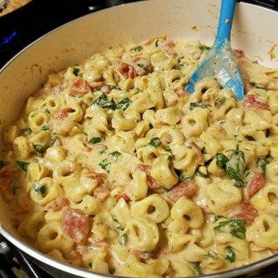 "Spinach Tomato Tortellini I ""I made this for company last night and it was a huge success!"""