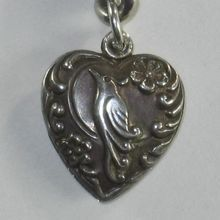 Sterling Silver Puffy Heart Charm ~ Exotic Cockatiel Bird: Heart Charm, Puffy Heart, Exotic Cockatiel, Sterling Silver