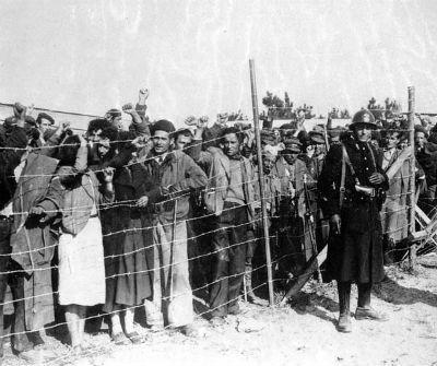 Exiliados españoles republicanos en Francia - Argelès-sur-Mer (1939)