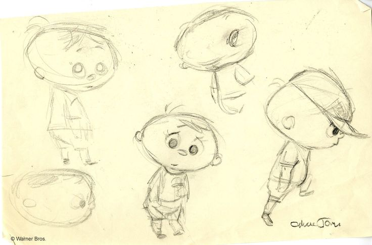 """directedbychuckjones: """"The many faces of Ralph Phillips. Key pose, layout, and character study drawings by Chuck Jones for his 1957 short animated film, """"Boyhood Daze"""" """""""