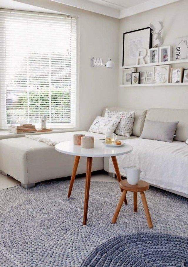 salon blanc scandinave