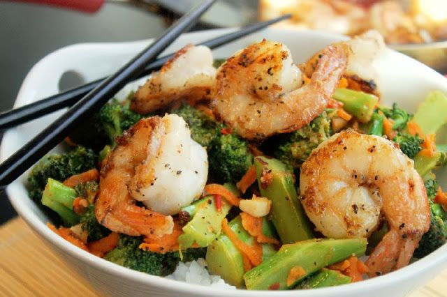Spicy Thai Shrimp and Broccoli