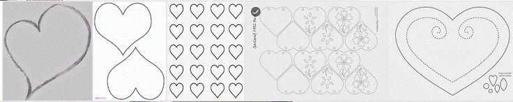 Diferentes moldes de corazones para tus decoraciones en: http://www.ohmyfiesta.com/2014/01/moldes-o-plantillas-de-corazones.html