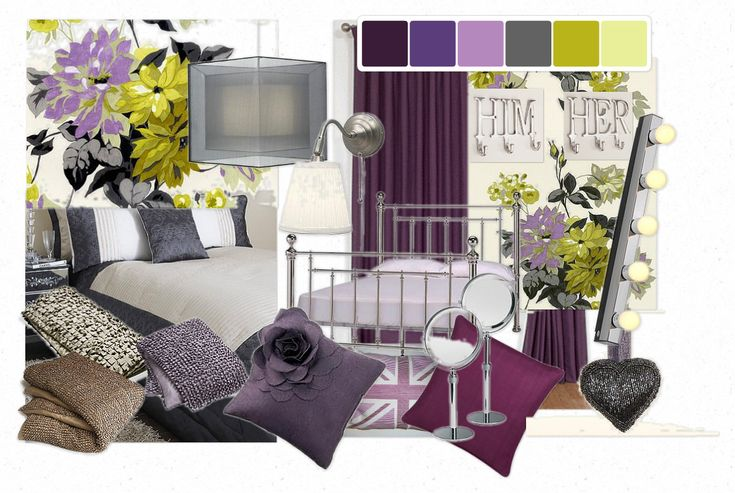 cool purple grey living room | purple and green with some charcoal grey -inspiration for ...