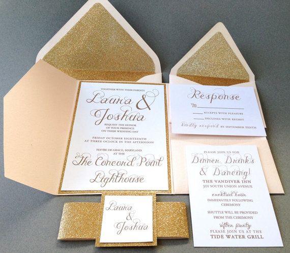 18 best Glitter Wedding Invitations images on Pinterest ...