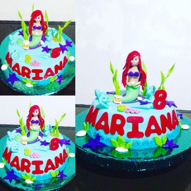 Torta Cumpleaños La Sirenita Tata-Sabores Tortas & Postres