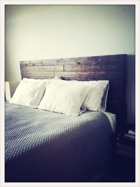 Headboard Reclaimed Wood Bed by Reanimatedwood on Etsy, $750.00
