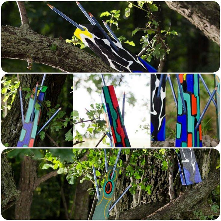 Suport de pixuri Decobox #colorful #trees