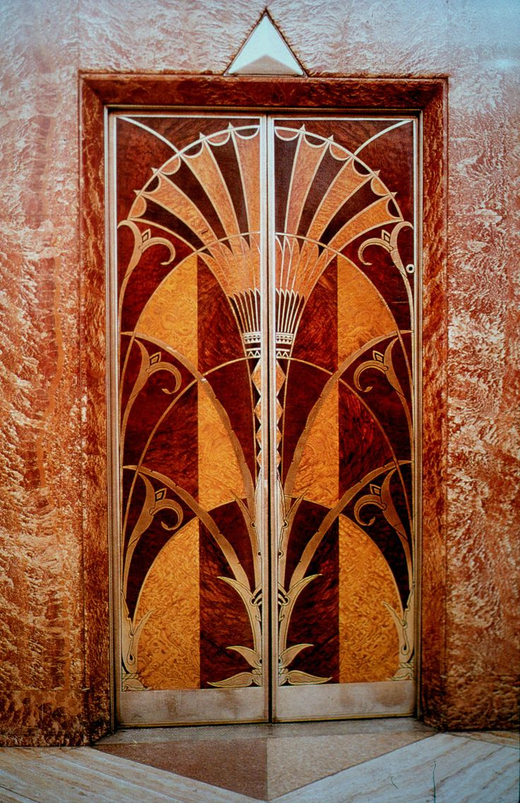 Elevator Door Chrysler Building In Egyptian Style With