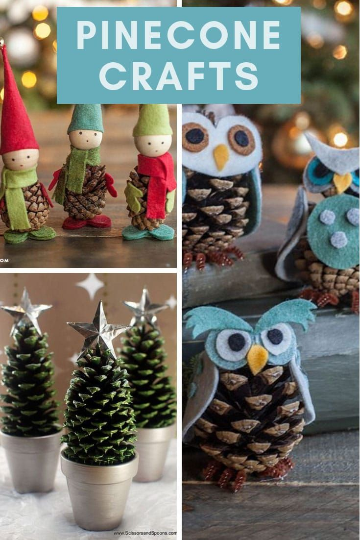 25 Easy Pinecone Crafts For Christmas Decor Projects You Can Diy